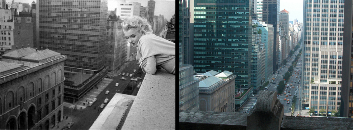 Marilyn in NY 2 fotos juntes