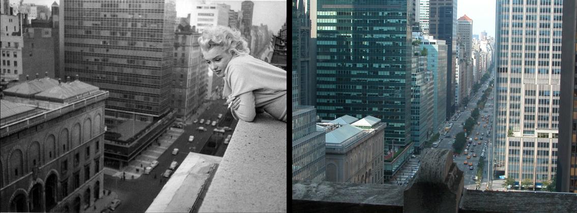 Marilyn in NY 2 fotos juntes