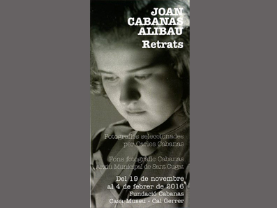 JOAN CABANAS-ALIBAU. RETRATOS
